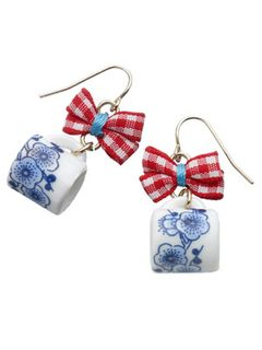Nautical teacup earrings