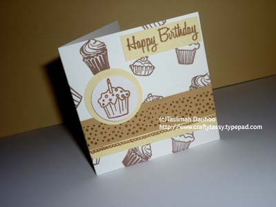 Small bday card sample