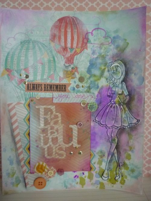 Mixed media art journal page- Picture 1