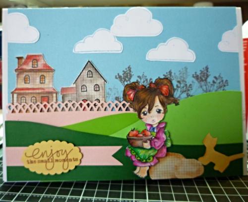 create a scenery card