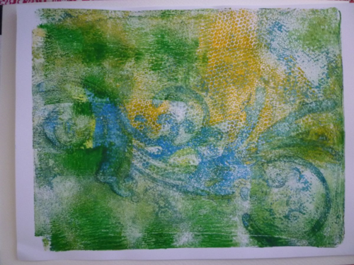 Gelli Plate- Absctract images with patterns