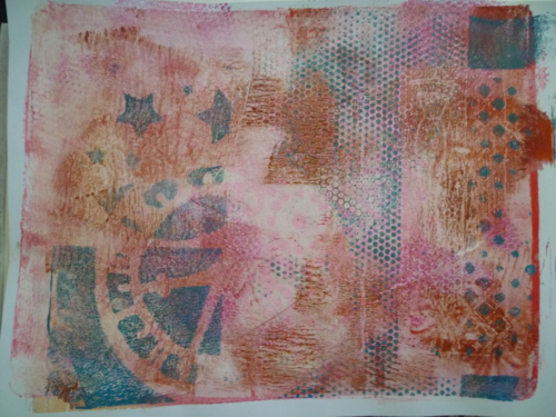 Gelli plate- Abstract Images